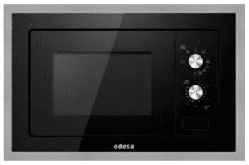 Microondas Integrable Edesa EMW-2010-IG XBK Negro de 20 L con 5 niveles de potencia a 800 W y Grill a 1000 W