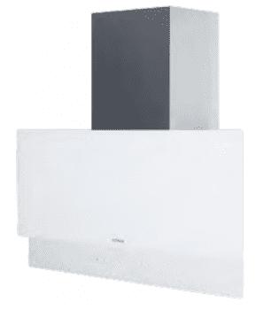Campana de Pared Edesa ECV-9832 GWH Blanca de 90 cm con 4 niveles + función turbo a 820 m³/h | Clase A+