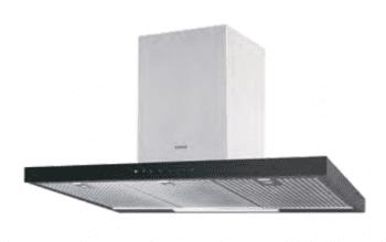 Campana de Pared Edesa ECB-9831 XGBK Negra de 90 cm con 3 niveles + función turbo a 850 m³/h | Clase A