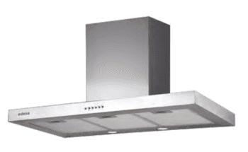 Campana de Pared Edesa ECB-9611 X Inoxidable de 90 cm con 3 niveles a 645 m³/h | Clase C