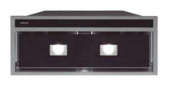 Grupo Filtrante Encastrable Edesa ECG-5831 GBK Negro de 60 cm con 3 niveles + turbo a 820 m³/h | Clase A