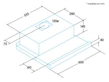 Campana Telescópica Extraíble Edesa ECT-6411 WH Blanca de 60 cm con 2 niveles a 390 m³/h | Clase C - 2