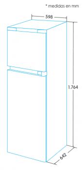 Frigorífico 2 Puertas Edesa EFT-1711 WH/A Blanco de 176 x 60 cm con las puertas reversibles   Eficiencia F - 3