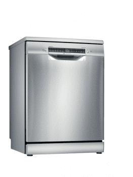 Lavavajillas Bosch SMS4EMI00E Inoxidable de 60 cm, para 14 servicios, 3a Bandeja para cubiertos, Secado mediante Zeolitas | Clase A+++ | Serie 6