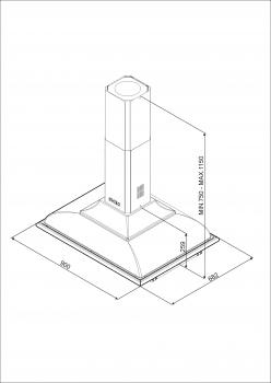 Campana de Techo Isla Smeg KCI19POE Crema | 90 cm | 3 niveles de extracción | 796 m³/h máx. | Clase A - 2