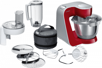 Robot de cocina Bosch MUM58720 | Rojo + Plateado | 1000W | 7 velocidades
