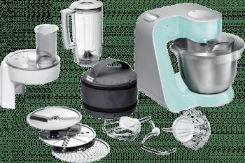 Robot de cocina Bosch MUM58020 | Turquesa + Plateado | 1000W | 7 funciones