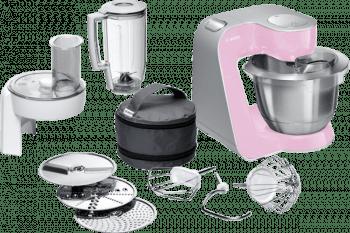 Robot de cocina Bosch MUM58K20 | Rosa + Plateado | 1000W | 7 velocidades