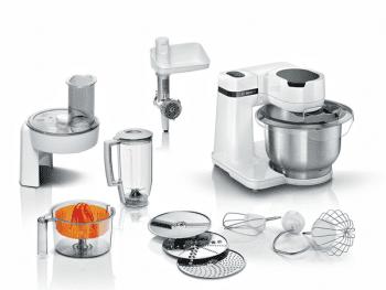 Robot de cocina Bosch MUMS2EW40 | 700W | Blanco | 4 niveles de velocidad | Bowl 3,8L INOX