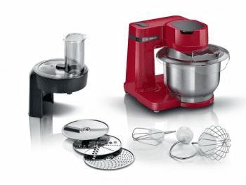 Robot de cocina Bosch MUMS2ER01 | 700W | Rojo | 4 velocidades | sistema 3D PlanetaryMixing