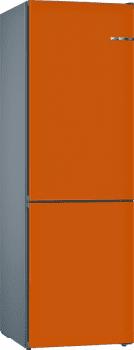 Frigorífico Combi VarioStyle Bosch KVN39IOEA Naranja, de 203 x 60 cm | Puertas personalizables | Clase E
