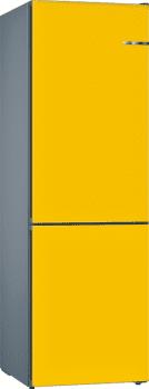 Frigorífico Combi VarioStyle Bosch KVN39IFEA Amarillo, de 203 x 60 cm | Puertas personalizables | Clase E