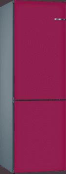 Frigorífico Combi VarioStyle Bosch KVN39ILEA Berenjena, de 203 x 60 cm | Puertas personalizables | Clase E