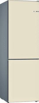 Frigorífico Combi VarioStyle Bosch KVN39IVEA Blanco marfil, de 203 x 60 cm | Puertas personalizables | Clase E