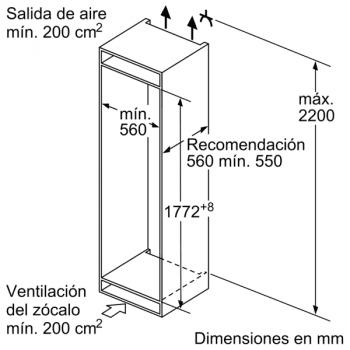 Frigorífico Combi Bosch KIV86VSE0 Cíclico Integrable, de 177.2 x 54.1 cm con tecnología Low Frost | Clase E - 9