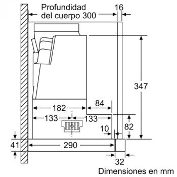 Campana Telescópica Bosch DFS097K51 Inoxidable, de 90 cm, con 5 niveles de extracción a 395 m³/h máx. | Motor EcoSilence Clase B - 10