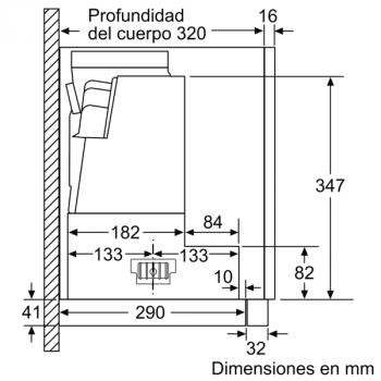 Campana Telescópica Bosch DFS097K51 Inoxidable, de 90 cm, con 5 niveles de extracción a 395 m³/h máx. | Motor EcoSilence Clase B - 11