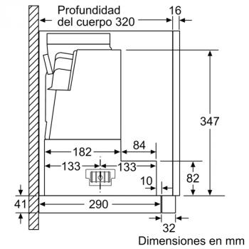 Campana Telescópica Bosch DFS067K51 Inoxidable, de 60 cm, con 5 niveles de extracción a 392 m³/h máx. | Motor EcoSilence Clase A - 10