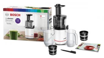 Extractor de jugos lento Bosch MESM500W | VitaExtract | 150 W | Blanco