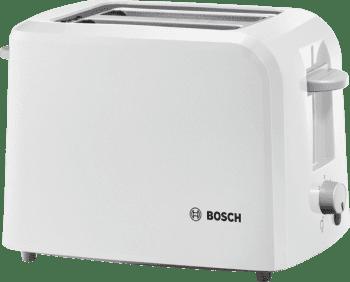 Tostadora Bosch TAT3A011 | CompactClass | 2 rebanadas | Calienta-panecillos incluido | Blanco