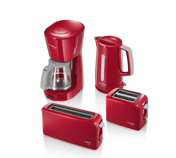 Tostador largo Bosch TAT3A004   CompactClass   1 rebanada   Rojo - 2