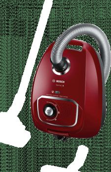 Aspirador con bolsa Bosch BGLS4X201 | Rojo | Serie 4 | Sistema PowerProtect - 4
