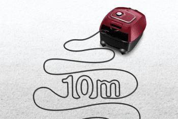 Aspirador con bolsa Bosch BGLS4X201 | Rojo | Serie 4 | Sistema PowerProtect - 5