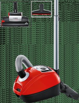 Aspirador con bolsa Bosch BGL4ZOOO | GL-40 Zoo'o | Rojo | Sistema PowerProtect