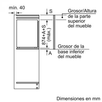 Congelador Siemens GI21VAFE0 Integrable, de  87.4 x 55.8 cm, con 3 cajones transparentes, descongelación Low Frost | Clase E - 5