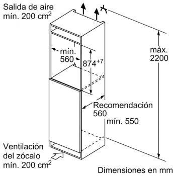 Congelador Siemens GI21VAFE0 Integrable, de  87.4 x 55.8 cm, con 3 cajones transparentes, descongelación Low Frost | Clase E - 6