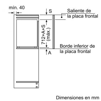 Congelador Siemens GI11VAFE0 Integrable, de  71.2 x 55.8 cm, con 3 cajones transparentes, descongelación Low Frost | Clase E - 7