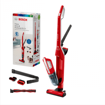 Aspiradora sin cable Bosch BBH3ZOO25 | Flexxo 25.2V| Rojo | Serie 4 - 9