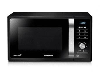 Microondas Samsung MG23F301TAK/EC Negro | Micro 800W | Grill 1.100W | TDS | 20 recetas programadas | 23 Litros