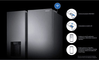 Frigorífico Americano Samsung RF50N5970B1/ES Grafito   Triple cooling   Metal cooling  WiFi*   Clase F - 7