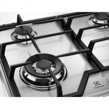 Placa de Gas Electrolux KGS6436X | Inox | 60 cm | 4 quemadores | Zona Wok | Stock