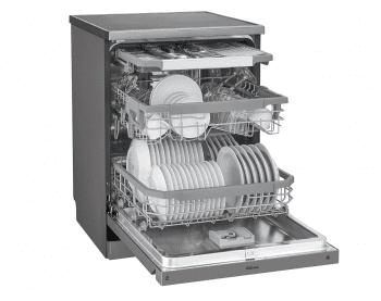 Lavavajillas LG DF325FP Inox Antihuellas   85x60x60cm   QuadWash   14 servicios   3a bandeja   Clase E