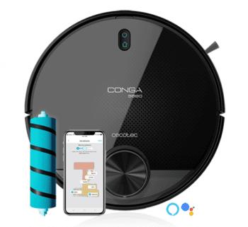 Robot Aspirador Cecotec Conga 3890 Titanium | referencia 5551 | Wifi App | Aspira y Friega | 10 modos de limpieza
