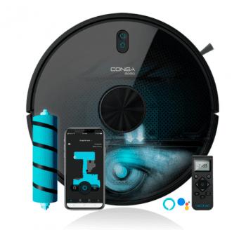 Robot Aspirador Cecotec Conga 6090 Ultra | referencia 5554 | Wifi APP | Aspira y Friega | 10 modos de limpieza