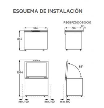 Arcón congelador Aeg AHB526D1LW Blanco | 96 x 84.5 cm| LowFrost | Motor Inverter | Clase D - 2
