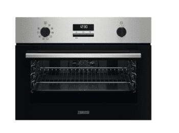 Horno compacto Inox Zanussi ZVENN5X1 | 43 litros | 10 funciones | Esmalte de fácil limpieza | Clase A+/F