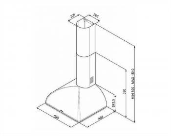Campana Colonial Smeg KS59POE2 Crema de 60cm | Aspiración 820 m3/h | Clase A - 2