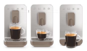 Cafetera Taupe Smeg BCC01TPMEU 50'Style con Molinillo Integrado |1 Tipo de Té & 7 de Café | Sistema Anti-Goteo | 100% Automática - 10