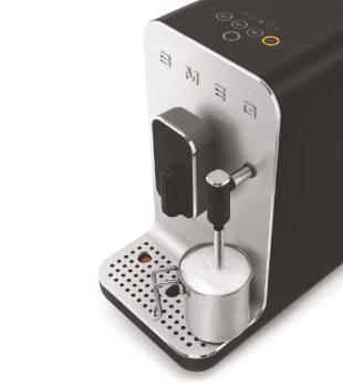 Cafetera Smeg Negra BCC02BLMEU 50'Style con Vaporizador y Molinillo Integrado | 8 funciones y función vapor | Sistema Anti-Goteo | 100% Automática