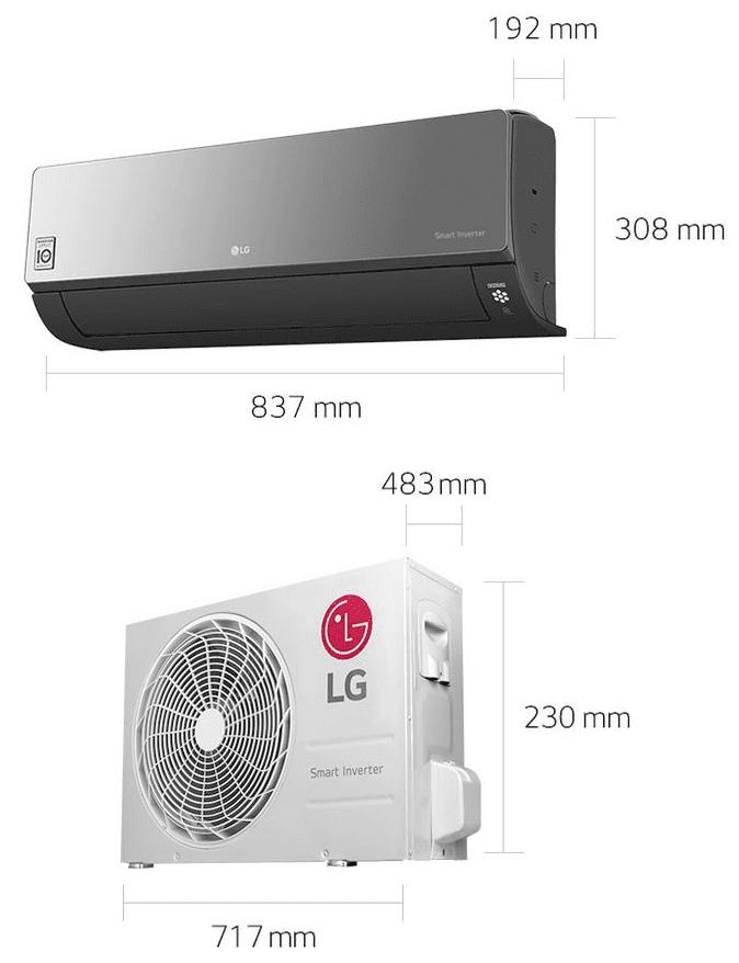 AIRE ACONDICIONADO LG AM12BP ART COOL MIRROR CONNECT |  SPLIT 1X1 3,5KW | STOCK -
