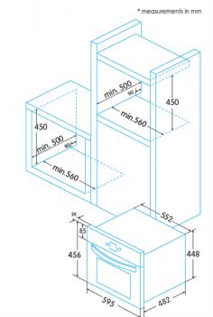 Horno Compacto Multifunción 45cm Edesa EOE-4530 X/A | 45x60cm |  40 Litros | EasyClean - 3