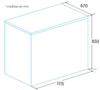 Congelador Horizontal Edesa EZH-3011 | 111.5x85x67cm | Blanco | Clase F - 2