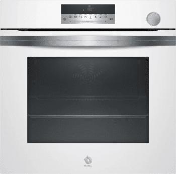 Horno Vapor Balay 3HA5378B1 | Cristal Blanco | Asistente de limpieza Aqualisis | AutoChef con 40 recetas | Clase A