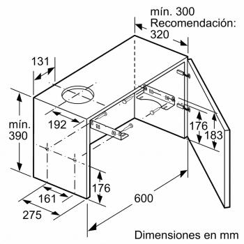 Campana telescópica extraíble Balay 3BT294MX Inox   90cm    383 m³/h   Clase C - 5