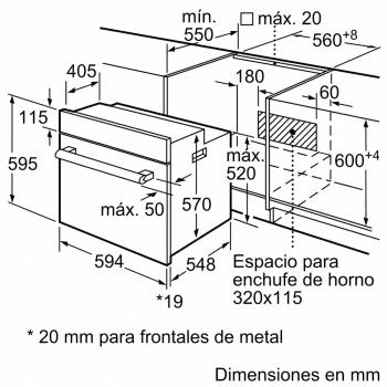 Horno Multifunción BALAY 3HB1000X0 Acero Inoxidable | 5 funciones | 71 Litros | Clase A - 6