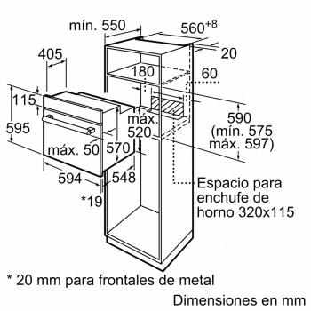 Horno Multifunción BALAY 3HB1000X0 Acero Inoxidable | 5 funciones | 71 Litros | Clase A - 7